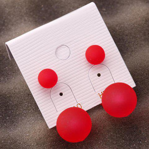 Pair of Simple Candy Solid Color Stud Earrings For Women