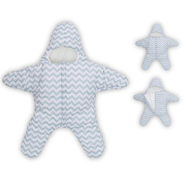 Thicken Wavy Striped Pattern Star Shape Super Soft Sleeping Bag For Baby - LIGHT BLUE