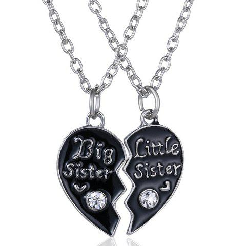 A Suit of Heart Sister Necklaces - SILVER