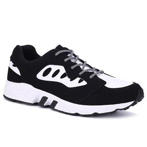 Casual  Color Block and Suede Design Men's Athletic Shoes