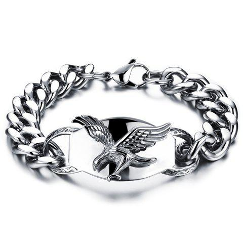 Chic Alloy Eagle Shape Bracelet For Men - SILVER