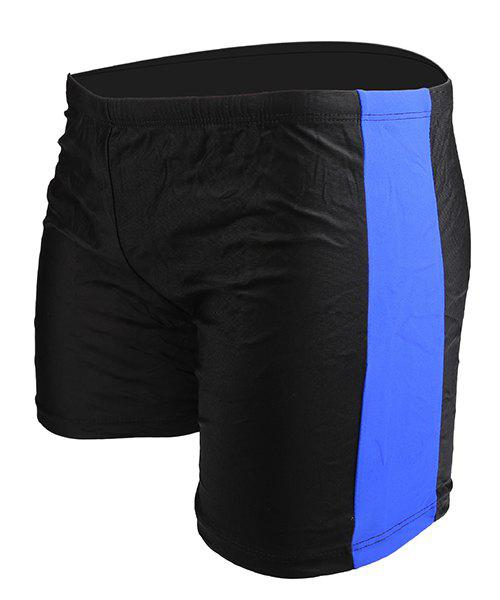 Slimming Splicing Elastic Waist Men's Swimming Trunks - SAPPHIRE BLUE ONE SIZE(FIT SIZE XS TO M)
