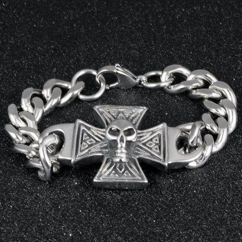Vintage Skull Crucifix Shape Bracelet For Men