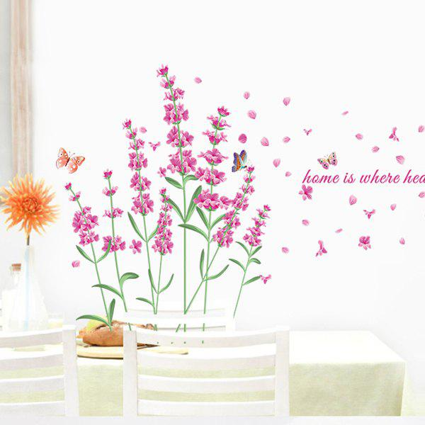 Stylish Lavender Pattern Wall Stickers For Bedroom Livingroom Decoration