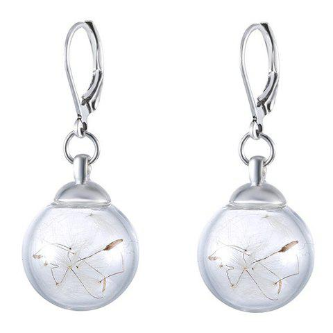 Pair of Stylish Glass Shade Dandelions Earrings For Women