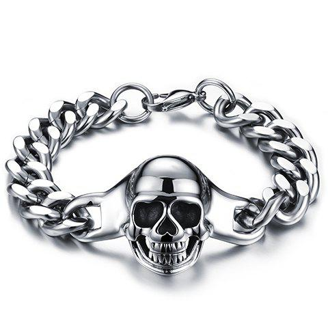 Chic Stainless Steel Skull Bracelet For Men