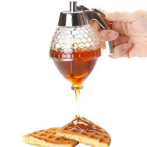 High Quality Kitchen Tool Transparent  Oil Juice Honey Squeeze Dispenser - SILVER