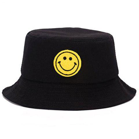 17% OFF  2019 Elegant Cartoon Smile Expression Embroidery Bucket Hat ... ca2455ea21f9