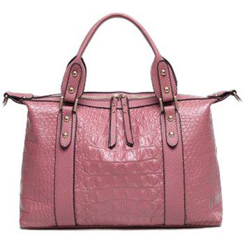 Fashionable Crocodile Print and PU Leather Design Women's Tote Bag