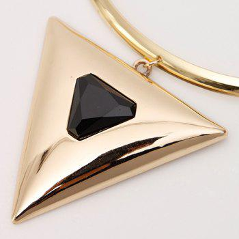 Adjustable Triangle Faux Gem Necklace - GOLDEN