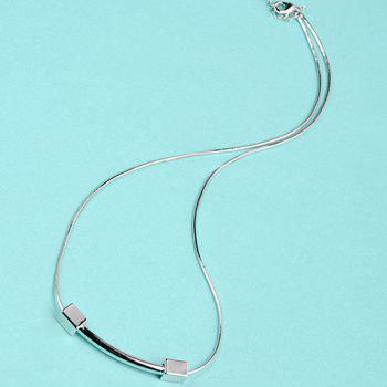 Dumbbell Pendant Necklace - SILVER