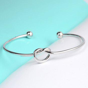 Fresh Style Solid Color Heart Cuff Bracelet For Women