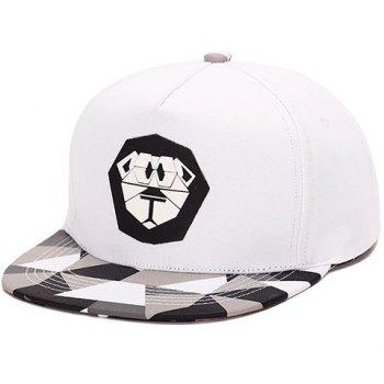Elegant Cartoon Lion Print Plaid Pattern Baseball Hat For Men