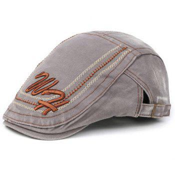 Elegant Letters Stitches Embroidery Cabbie Hat For Men