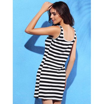 Mini  Striped Bodycon Dress - STRIPE XL