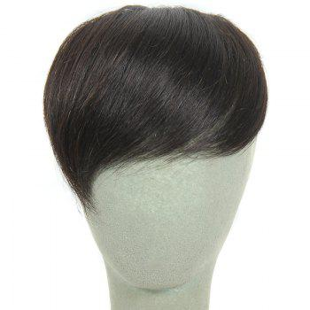 Fashion Natural Black Straight Brazilian Human Hair Side Bang