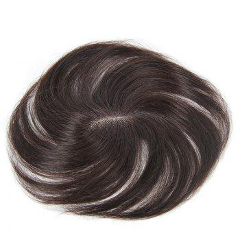 Stylish Brazilian Human Hair Natural Black Straight Clip In Toupee