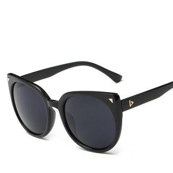 Chic Small Triangle Embellished Women's Black Cat Eye Sunglasses