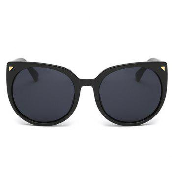 Chic Small Triangle Embellished Women's Black Cat Eye Sunglasses - BLACK