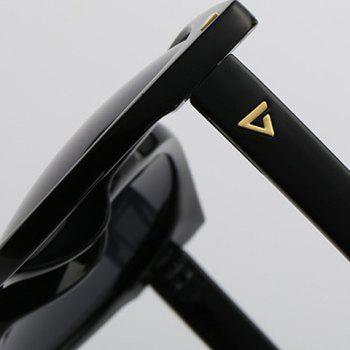 Chic Small Triangle Embellished Women's Black Cat Eye Sunglasses -  GOLDEN