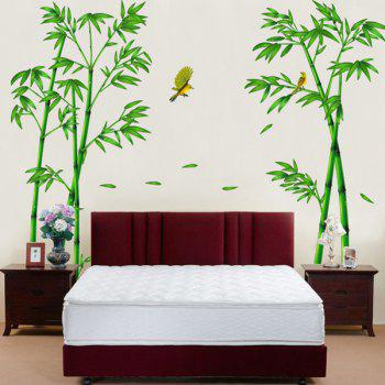 Stylish Bamboo and Birds Pattern Removeable Wall Stickers