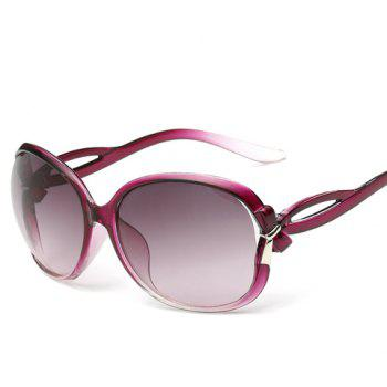 Chic Small Bow Embellished Hollow Out Leg Women's Sunglasses - PURPLE PURPLE