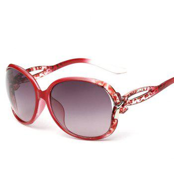 Chic Small Bow Embellished Leopard Pattern Women's Ombre Sunglasses - RED RED