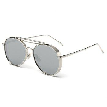 Chic Thick Rims Women Aviator's Silver Sunglasses - SILVER SILVER