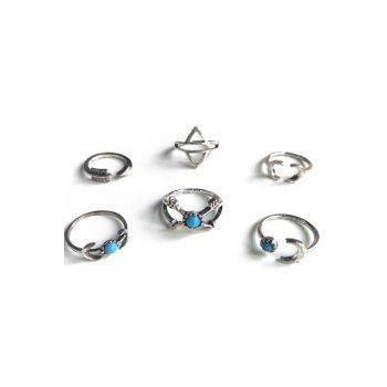Ethnic Style Moon Arrow Rings - SILVER