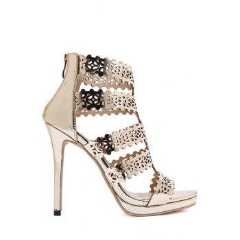 Party Hollow Out and Stiletto Heel Design Sandals For Women