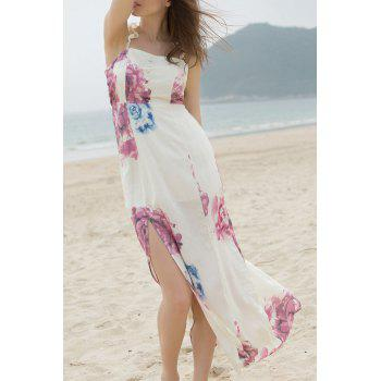 Elegant Off-The-Shoulder High Slit Women's Bohemian Dress