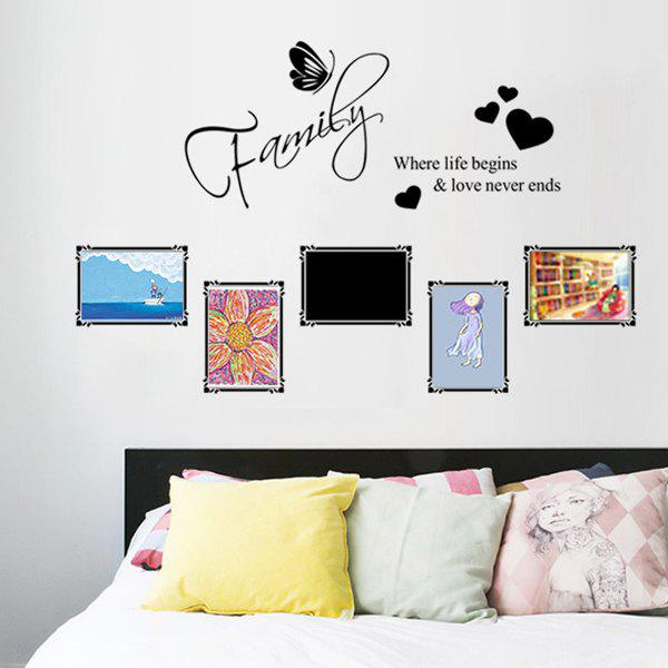 Stylish Letter Heart Pattern Photo Wall Stickers For Bedroom Livingroom Decoration