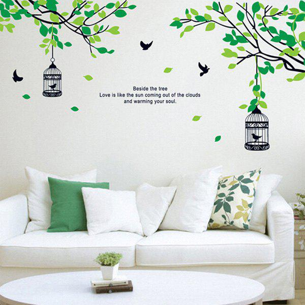 Stylish Flying Bird and Tree Pattern Wall Stickers For Bedroom Livingroom Decoration