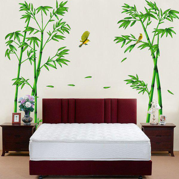 Stylish Bamboo and Birds Pattern Removeable Wall Stickers quality birds and flower shape removeable wall stickers