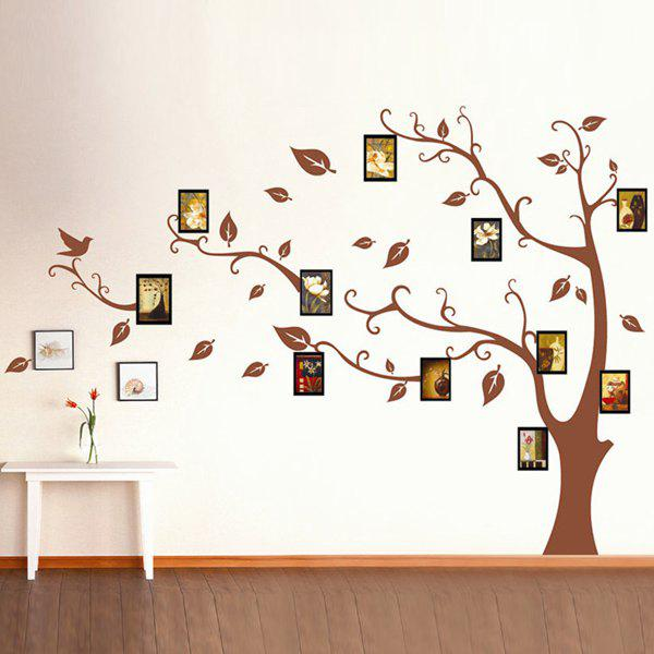 Fashion Memory Tree Pattern Home Decor Removeable Wall Stickers - COLORMIX