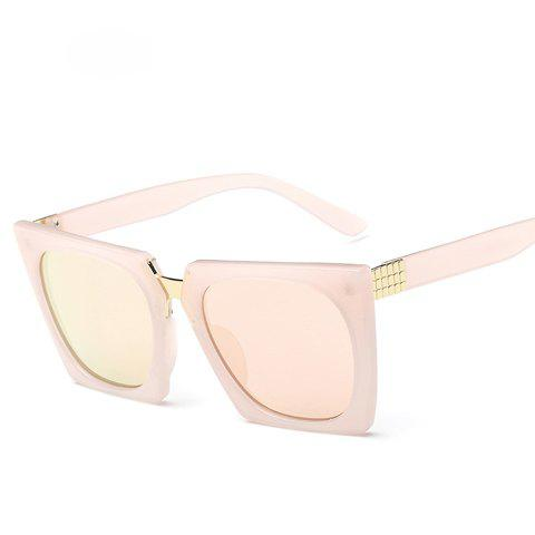 Chic Irregular Quadrate Frame Solid Color Women's Sunglasses - PINK