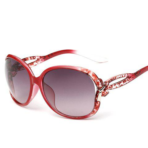 Chic Small Bow Embellished Leopard Pattern Women's Ombre Sunglasses - RED