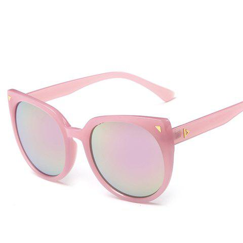 Chic Small Triangle Embellished Women's Cat Eye Sunglasses - PINK