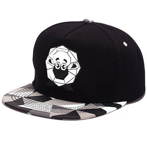 Elegant Cartoon Shaun The Sheep Print Plaid Pattern  Baseball Hat For Men