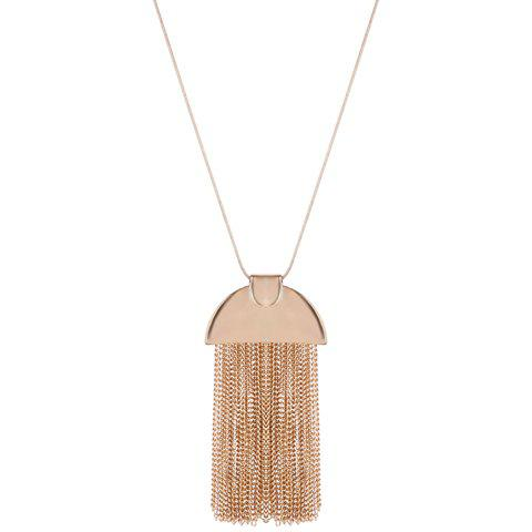 Geometric Alloy Chains Necklace - GOLDEN