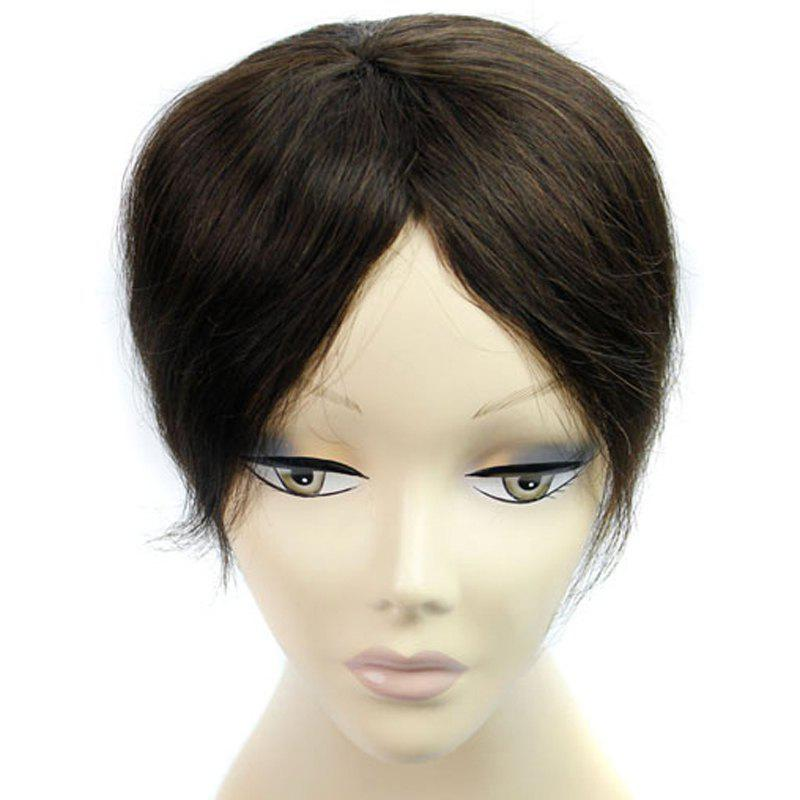Charming  Brazilian Human Hair Clip-In Straight Toupee -