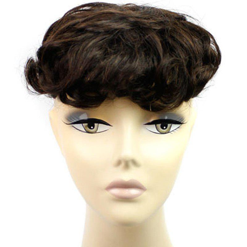 Vogue Clip In Fluffy Curly  Brazilian Human Hair Toupee - 2