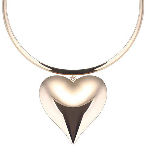 Alloy Adjustable Heart Necklace - GOLDEN
