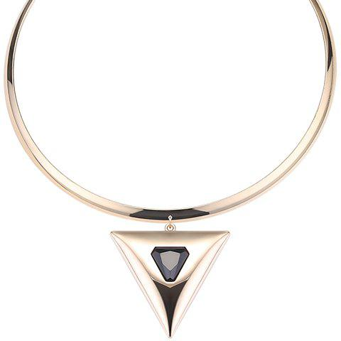 Gorgeous Faux Gem Triangle Necklace For Women