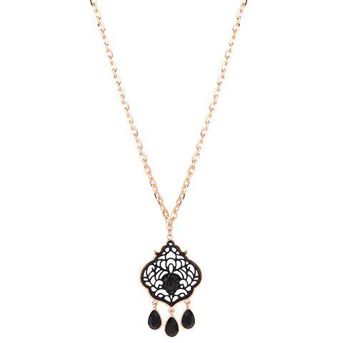 Delicate Hollow Out Water Drop Necklace For Women - GOLDEN