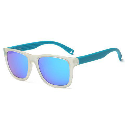 Chic Quadrate Frame Women's Blue and White Sunglasses