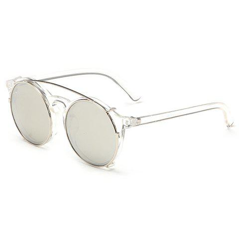 Chic Detachable and Double Lenses Design Women's Sunglasses