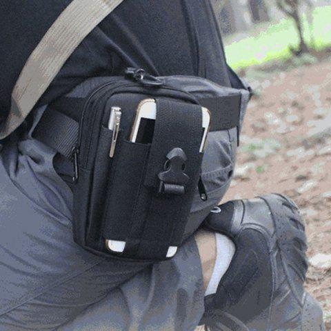 High Quality Outdoor Sports Cycling Hiking Storage Bag Tactical Waist Pack - BLACK