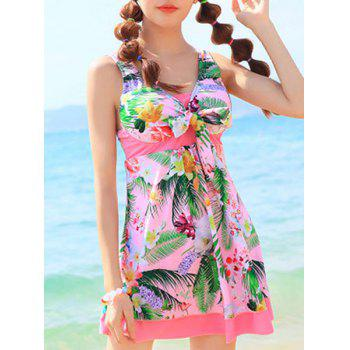 Cute High Waist One-Piece Dress Swimwear For Women