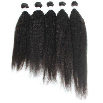 Shaggy Yaki Straight Brazilian Human Hair Fashion Natural Black 1 Piece/Lot Women's Hair Weft - 22INCH 22INCH